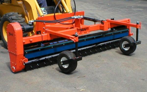 skid steer power rake